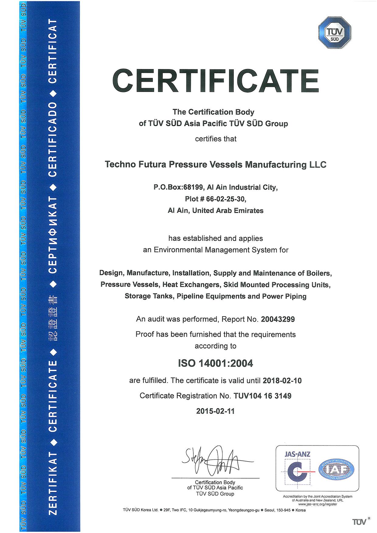 Techno Futura Certification